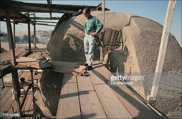 Scaffolding to inspect any part of the monument in Cairo Egypt on May 01 1990