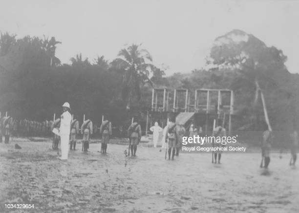 Scaffolds for public execution in Mombasa There is no official date for this image possibly taken circa 1910 Kenya circa 1910