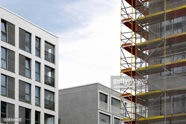 BERLIN GERMANY AUGUST Scaffolds of house construction are pictured on August 10 2018 in Berlin Germany