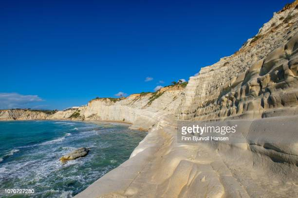 scala dei turchi - turkish steps in agrigento sicily italy - finn bjurvoll stock pictures, royalty-free photos & images
