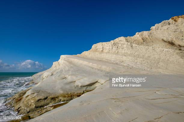 scala dei turchi - turkish steps in agrigento sicily italy - finn bjurvoll stock photos and pictures