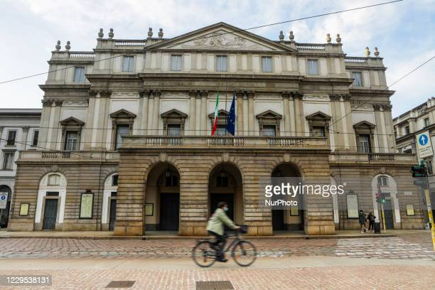 Scala theatre during Lockdown in Lombardy red zone on November 08, 2020 in Milan, Italy. Italian Prime Minister Giuseppe Conte has issued a...