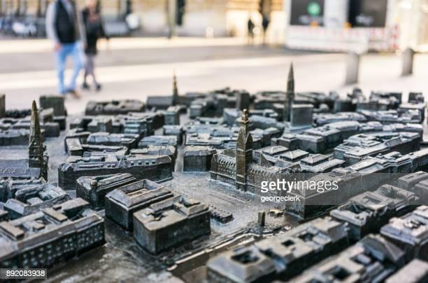 Scale model of Hamburg's city centre