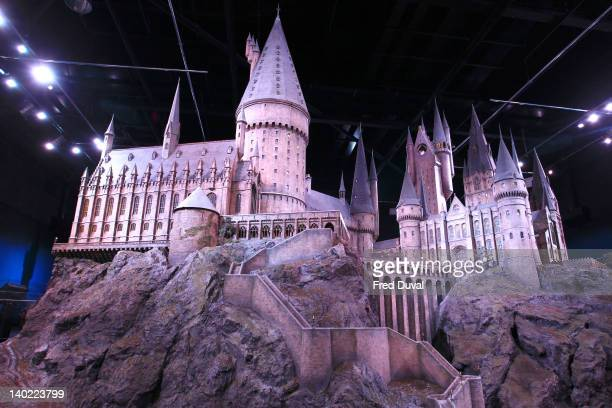 A 124 scale model of Hogwarts castle used in the movies is displayed at Warner Bros Studio Tour London 'The Making of Harry Potter' on March 1 2012...