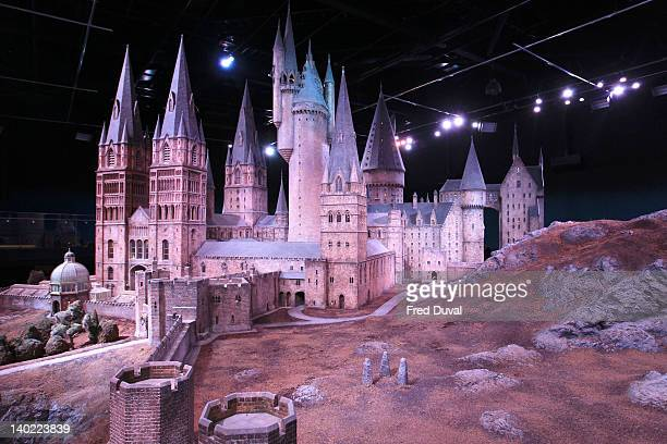 Scale model of Hogwarts castle used in the movies is now on show at Warner Bros. Studio Tour London - 'The Making of Harry Potter' on March 1, 2012...