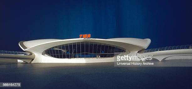 Scale model of the Trans World Airlines Terminal John F Kennedy Airport New York 195662 Interior Designed by the architect Eero Saarinen 19101961