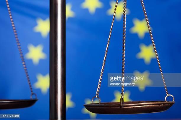 Balance de la justice contre Drapeau de l'Union européenne