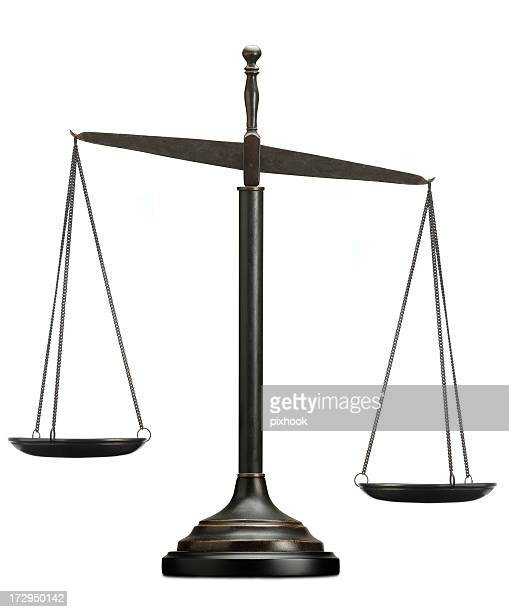 scales of justice - imbalance stock pictures, royalty-free photos & images