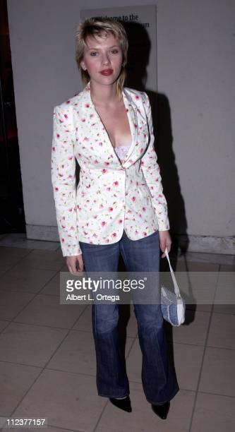 Scalett Johansson during 'The Core' Premiere After Party at Armand Hammer Museum in Westwood California United States