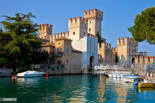 Scaliger castle at Sirmione, Garda lake, Italy