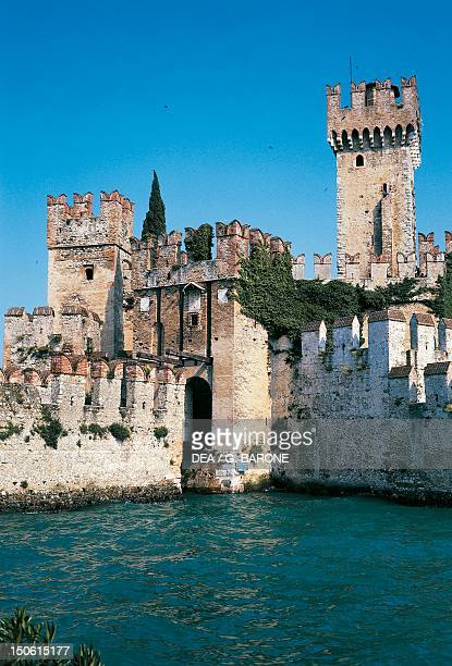 Scaliger Castle of Sirmione Lake Garda Lombardy Italy 13th century