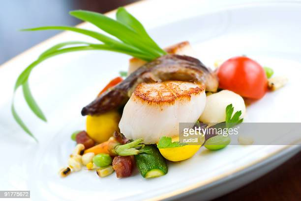 Scallops and Vegetables Appetizer