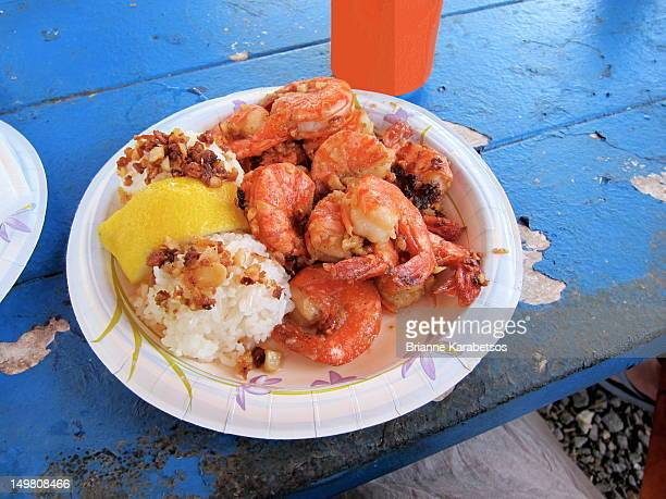 scampi shrimp plate - brianne stock pictures, royalty-free photos & images