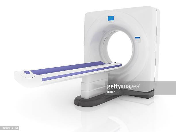 cat scan machine against a plain white background - cat scan machine stock pictures, royalty-free photos & images