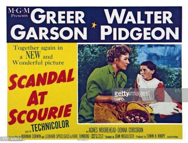 Scandal At Scourie US lobbycard from left Greer Garson Donna Corcoran 1953