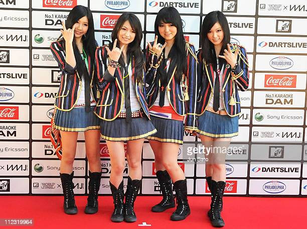 Scandal walks on the red carpet during the MTV World Stage VMAJ 2010 at Yoyogi National Gymnasium on May 29 2010 in Tokyo Japan