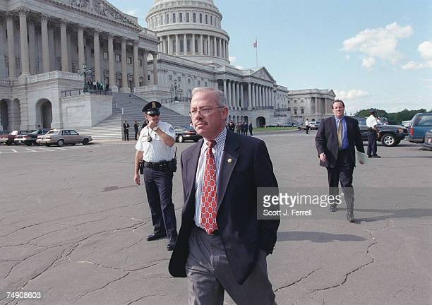 SCANDALHouse Judiciary Committee member Bob Barr RGa walks by the East Front of the US Capitol after the arrival of Independent Counsel Kenneth W...