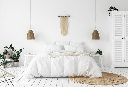 Scandi-boho style bedroom 1008574426