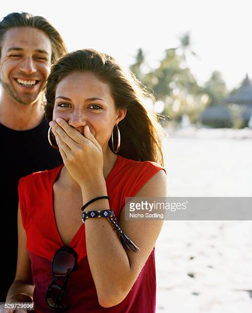 a scandinavian couple - ピンクの頬 ストックフォトと画像