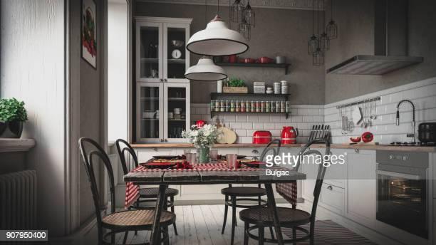 Scandinavian Domestic Kitchen (Toned Image)