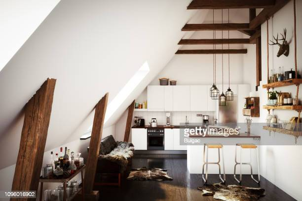 scandinavian home interior - traditionally scandinavian stock pictures, royalty-free photos & images