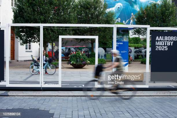 scandinavian living: cycling - aalborg stock pictures, royalty-free photos & images
