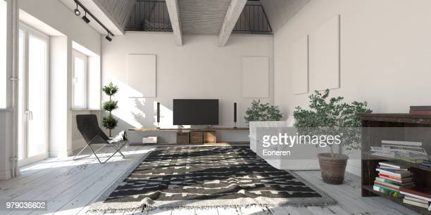 Scandinavian Loft Apartment Living Room