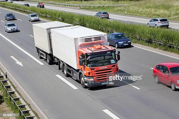 Scania truck on German highway