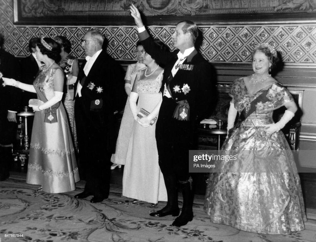 Politics - President Saragat of Italy Banquet - Windsor Castle : News Photo