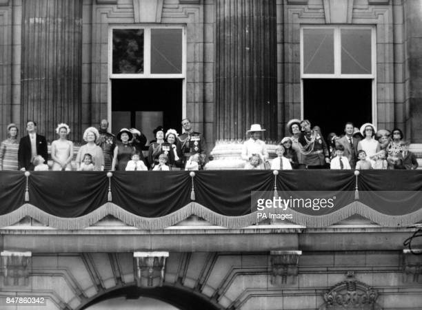 *Scanned lowres from print highres available on request* Members of the royal family on the balcony of Buckingham Palace after the Trooping of the...
