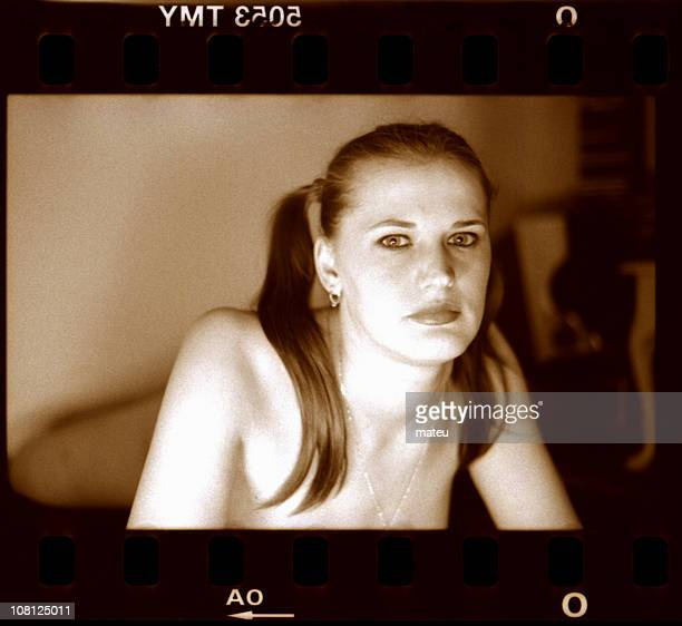 Scanned Negative of Woman with Beautiful Eyes