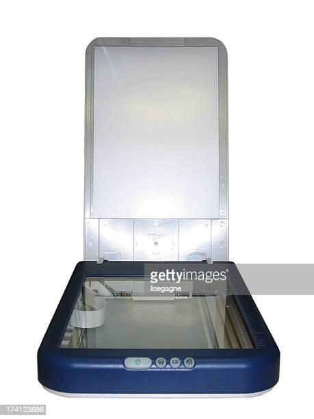 Scanner sur fond blanc