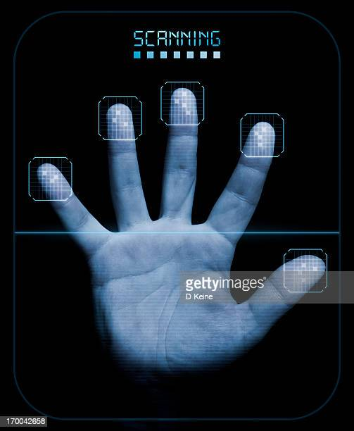 scanner - biometrics stock photos and pictures