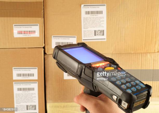 Scanning bar code in warehouse