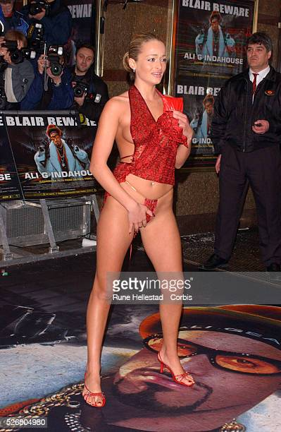 A scantilyclad model attends the premiere of the movie 'Ali G Indahouse' in London