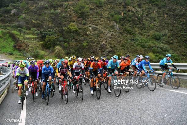 Óscar Cabedo of Spain and Team Burgos-BH / Enric Mas of Spain and Movistar Team / Matthew Holmes of The United Kingdom and Team Lotto Soudal / Edward...