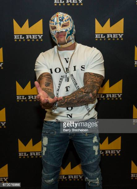 Óscar Gutiérrez aka Rey Mysterio of Lucha Underground during the 2017 C2E2 Chicago Comic Entertainment Expo at McCormick Place on April 23 2017 in...