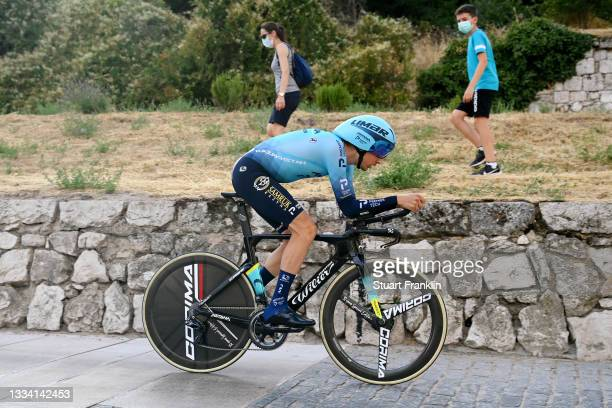 Óscar Rodriguez Garaikoetxea of Spain and Team Astana – Premier Tech competes during the 76th Tour of Spain 2021, Stage 1 a 7,1km individual time...