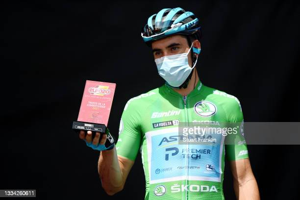 Óscar Rodriguez Garaikoetxea of Spain and Team Astana – Premier Tech Green Points Jersey during the team presentation prior to the 76th Tour of Spain...