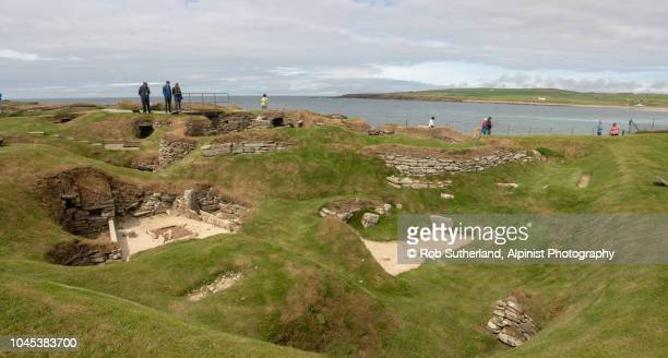 scara brae - stone age stock photos and pictures