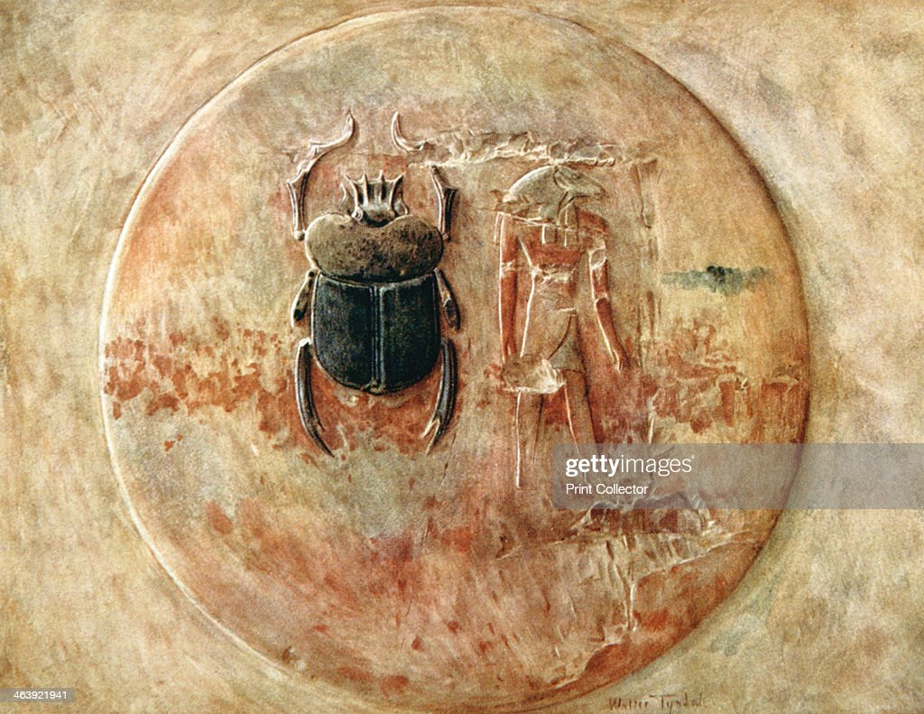 Scarab and Ra, Tomb of Seti, Egypt, 1910. Published in Egypt by Walter Tyndale, 1910.