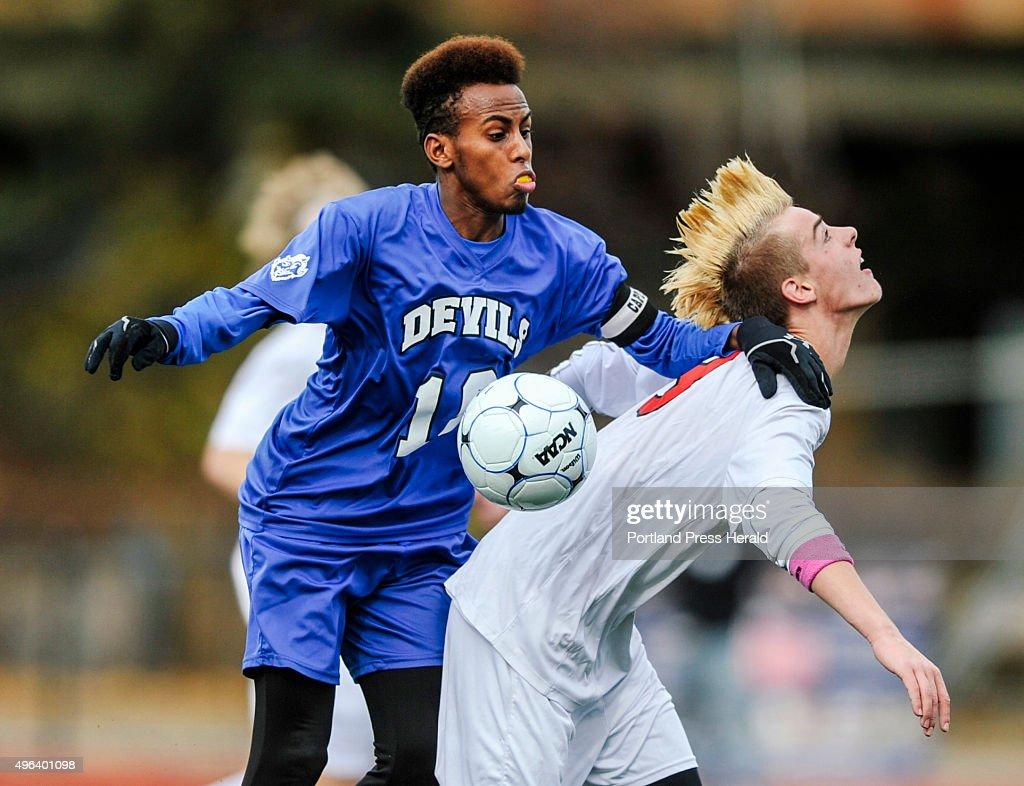 Lewiston vs. Scarborough soccer : News Photo