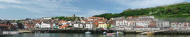 scarborough panorama - scarborough uk stock pictures, royalty-free photos & images