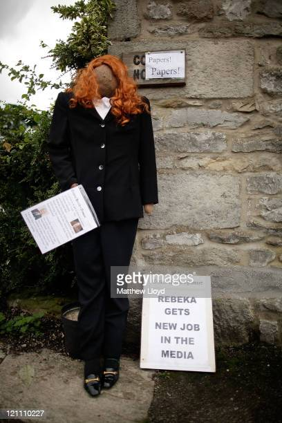 Scarecrow dressed as the former News International Chief Executive Rebekah Brooks stands as part of the annual scarecrow festival on August 13, 2011...