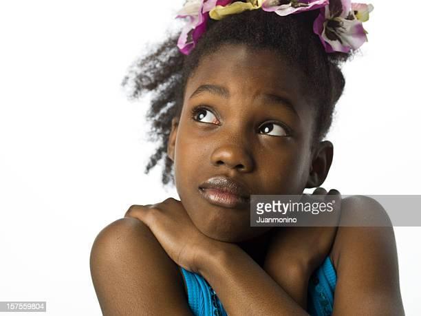 Scared Afro Caribbean Little Girl