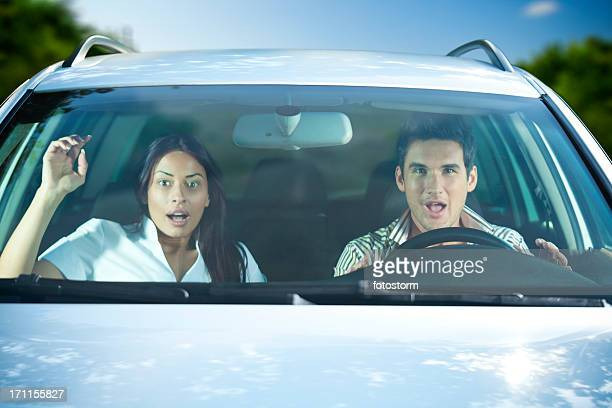 Scared Couple In The Car