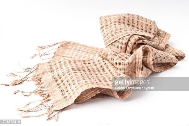 scarf on white background - schal stock-fotos und bilder