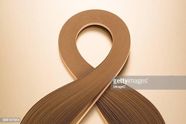 Scarf Shape Golden Paper Stripes