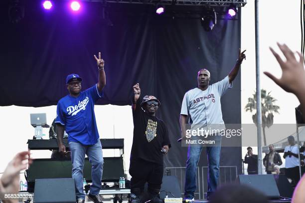 Scarface Bushwick Bill and Willie D of the Geto Boys perform on stage at the Growlers 6 festival at the LA Waterfront on October 29 2017 in San Pedro...