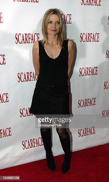 'Scarface' cast member Michelle Pfeiffer at the 20th Anniversary premiere event celebrating the theatrical rerelease held at the City Cinemas...